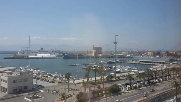 Porto Cagliari veduta dall'alto via Roma